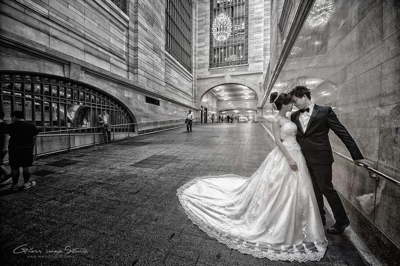 海外婚紗 自助婚紗 紐約 中央車站